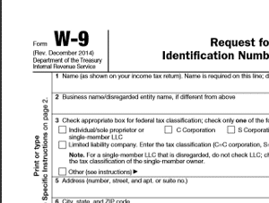 Form W-9 - IRS Forms and Letters